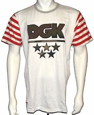 NWT - DGK 'AMERICAN CUSTOM' S/S T-SHIRT White SIZE: Large