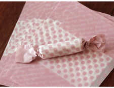 100pcs pink dot wax paper handmade Candy Chocolate packaging soap Wrapping paper