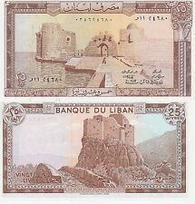 Lebanon 25 Livres Banknote 1983 Uncirculated Condition Cat#64-C-3740