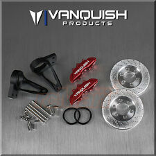 Vanquish Aluminum Rear Scale Brake Kit Red Axial Wraith 1:10 RC Car #VPS04603
