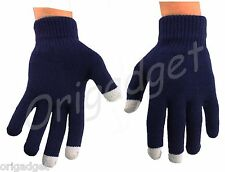 GUANTI TOUCH SCREEN SMARTPHONE IPHONE IPAD IPOD TABLET CONDUTTIVI GLOVES blu L