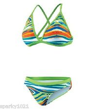 Nike TFSS0029-335 Rio Geo Convertible Halter Two Piece Girls Size 24/GRL8 NWT