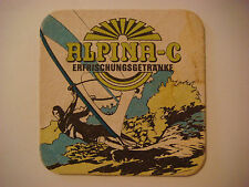 Vintage Beer Coaster ~*~ Allgäu ALPINA-C Diet Drinks, Fizzy Sodas, Fruit Nectars