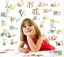 Wall Stickers 26 Animals Alphabet  Nursery Decal Kids Baby Room Decor removable