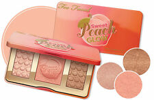Brand New Too Faced SWEET PEACH GLOW HIGHLIGHTER INFUSED Palette  3 COLORS