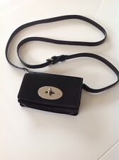 Mulberry Black Patent Leather Cross Body Purse / Phone Case Very Good Condition