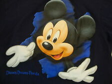 Walt Disney World Disney Dreams Florida Mickey Mouse Cartoon Blue T Shirt S