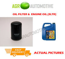 DIESEL OIL FILTER + FS PD 5W40 ENGINE OIL FOR CITROEN RELAY 2.0 84 BHP 2002-06