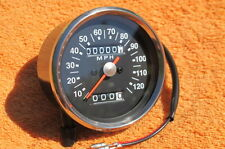 newline! 2:1 ratio black face MPH SPEEDOMETER SPEEDO 0-120 mph late BSA+TRIUMPH