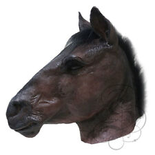 NEW ! Latex Animal Realistic Dark Brown Horse Cosplay Fancy Dress Carnival Mask