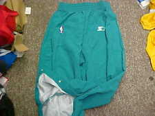NBA Charlotte Hornets 1997-98 Game Worn Teal Starter Warm-Up Pants Size: 42