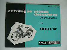 CATALOGUE PIECES DETACHEES CYCLOMOTEUR PEUGEOT BB 3 LM de 1965