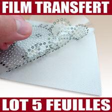 5 films transfert pour strass hotfix thermocollant - Format 32 x 20 cm