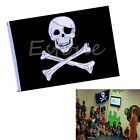 Large Pirate Flag 90*150cm Feet Skull and Crossbones Jolly Roger Banner Grommet