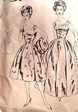 """USED 1960'S 'LE ROY' EVENING / COCKTAIL DRESS PATTERN 605 B 36"""""""