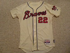 Atlanta Braves #22 Heyward 2013 Game Used Majestic Jersey MLB Authenticated