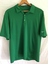 Nike Golf Polo Shirt L Large Athletic Outdoor Kelly Sport Green Mens