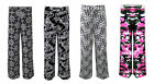NEW WOMEN LADIES PALAZZO TROUSERS WIDE LEG BLACK AND WHITE PRINT FLORAL
