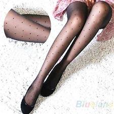 Womens Charmful Sheer Lace Small Dot Pantyhose Stockings Tights Slim Chic B84U