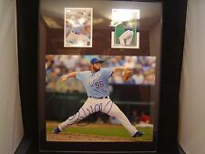 Greg Holland Autograph certified plaque 11 x 14 with 2 cards KC Royals