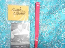 NEW SCOTTY CAMERON PUTTER CLEANING CLOTH + RARE BRAND NEW RED ROYAL CROWN GRIP