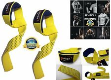 Power Straps 'STEALTH' Non Slip Gel Padded Weight Lifting Straps For  Men/Women
