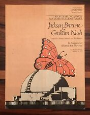 "Jackson Browne & Graham Nash ""Stop Diablo Canyon"" No Nukes Concert Program 1979"