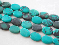AAA 15x20mm Green Turkey Turquoise Oval Loose Beads Gems 15'' H-56