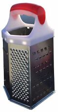 Stainless Steel 6 Sided Grater Cheese Potatoes Carrots Fruits Medium Coarse STL