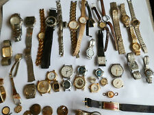 MIX LOT OF JUNK AND VINTAGE WATCHES PARTS ETC.