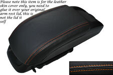 ORANGE STITCH LEATHER ARMREST SKIN COVER FITS VAUXHALL OPEL ZAFIRA C 2012-2014