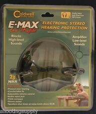 Caldwell Electronic Hearing Protection Low Profile with MP3 Input Jack New