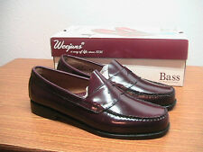 NEW w/ Box Mens 9D G.H. Bass Weejuns Oxblood Brown Leather Classic Penny Loafers