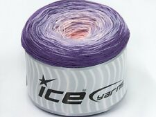 Lot of 2 x 150gr Skeins Ice Yarns CAKES COTTON FINE (50% Cotton) Wool Lavende...