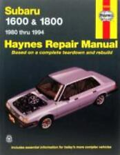 HAYNES REPAIR MANUAL SUBARU 1600&1800 1980 THRU 1994 # 0608