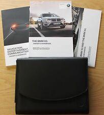 Genuine BMW x3 f25 Restauro Manuale Proprietari Manuale Navi Wallet Confezione da 2014-2016