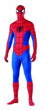 Spiderman Fancy Dress Adult Costume Second Skin Full Body Stretch Bodysuit La...