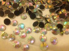 Quality DMC FULL PACK 288 ss30 Crystal AB Iron-on Hotfix Rhinestones UK SELLER