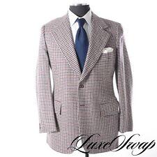 Vintage 1976 100% Pure Cashmere Saks Fifth Avenue Houndstooth Blazer Jacket 42 L