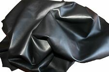 """20 PIECEs GENUINE 4""""x4"""" lamb Leather Skin italy 0.8 mm thickness BLACK soft"""