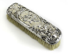 Theodore Foster & Bros F&B Art Nouveau Sterling Silver Vanity Clothes Brush
