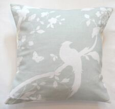 "16"" Laura Ashley 'Oriental Garden' Eau De Nil fabric cushion cover"