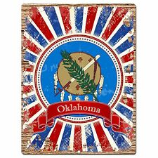 PP1015 USA OKLAHOMA State Flag Chic Sign Home Shop Store Room Wall Decor