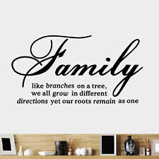 DIY Family Tree Together Quote Vinyl Wall Sticker Decal Home Decor Art Removable