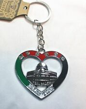 New Palestinian Keychain - W/ Palestine Flag Colors Heart shape - Alaqsa Mosque