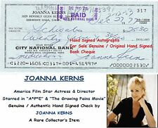 JOANNA KERNS   FILM  ACTRESS DIRECTOR  HAND SIGNED BANK CHEQUE - 1977  RARE ITEM