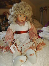 "Dianna Effner 1987 Hillary porcelain doll, 24"" large, EUC just needs cleaning"