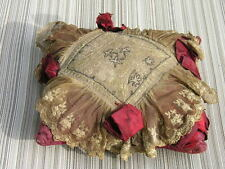 Antique Vintage Victorian Pin Cushion Silk~with Ribbons Vanity~Sewing Valentine