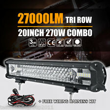 20INCH 270W TRI ROW CREE LED LIGHT BAR WORK LAMP SPOT FLOOD DRIVING 4WD CAR 19""