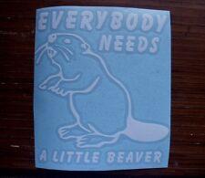 Beaver Wildlife Animal Fur Pelt Water Window Decal